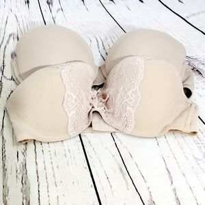 Nude strapless bra bundle PINK and Betsey